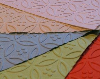 1 Dozen Circle & Dot Embossed Paper Dinner Napkins 27 Colors Available
