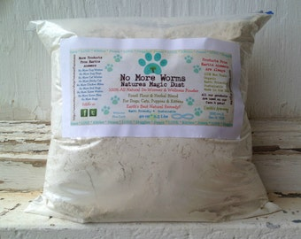 Kennel * Feral Cats 2 LB Bulk No More Dog or Cat Worms 100% Organic Natural De-Wormer Powder