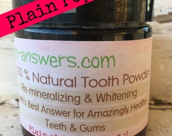 100% Natural Re-Mineralizing & Whitening Tooth Powder, Plain Ole Peppermint