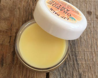 Natural Lip Balm Sweet Orange Anise Lip Salve Chapped Lip Treatment