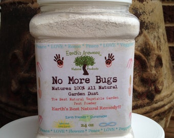No More Bugs 100% Organic Powder All Natural Vegetable Garden House Plants & More.