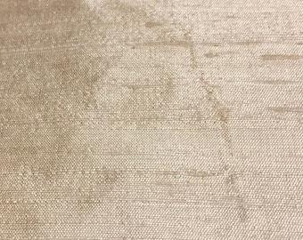 "Cream Silk Dupoiini  [1709]- 54"" Wide x 37.5"" long cut"