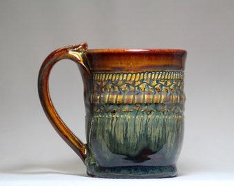 8oz pottery mug, handmade coffee mug