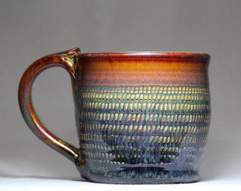 original stoneware tea cup, 12oz pottery mug, pottery coffee cup