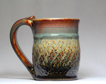 10oz pottery mug, original pottery mug, pottery coffee mug