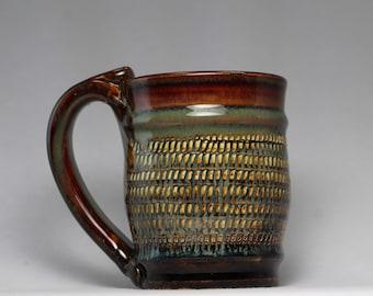 8oz pottery mug, pottery coffee cup