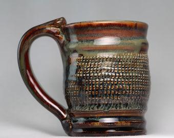 8oz ceramic pottery mug, pottery coffee cup