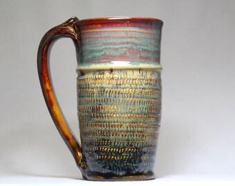 18oz mug, stoneware pottery mug, large mug
