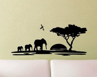 Serengeti Africa Wall Tattoo Wall Sticker Sticker ⭐ Africa Savanna 2 ⭐ steppe