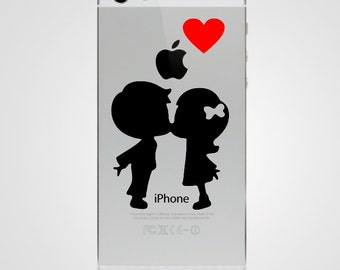 Lovers Kissing iPhone 5 Decal iPhone 5 Sticker Phone Decal