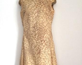 Contesa tricel swirl pattern shift dress size 10-12