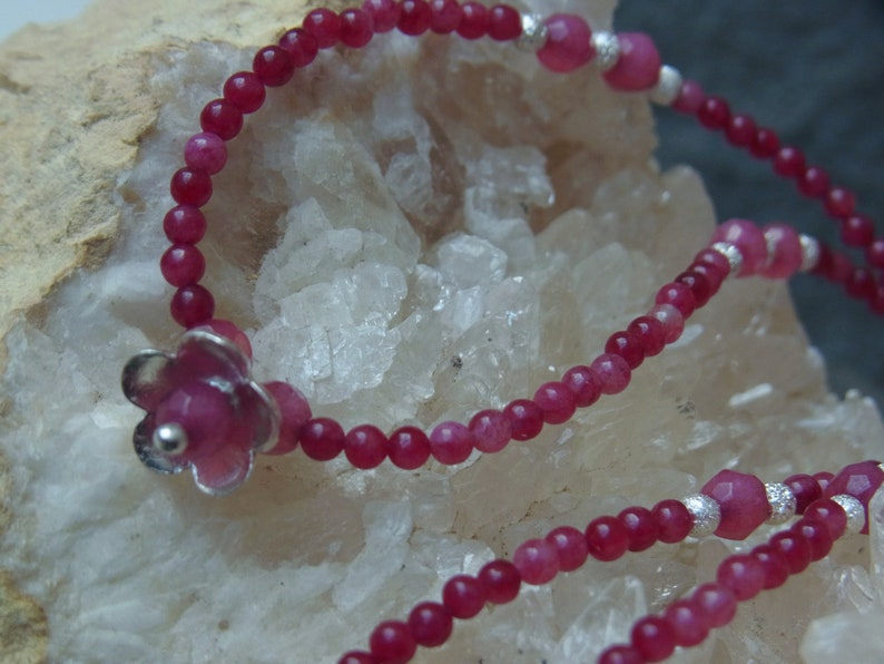 Necklace Agate Jade Chain chain Flower