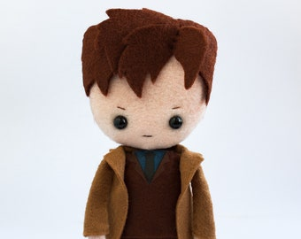 Tenth Doctor poseable plush from Doctor Who - handmade doll