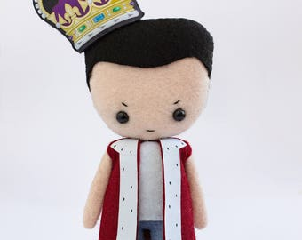 Jim Moriarty with Crown Jewels - poseable plush from Sherlock - handmade doll