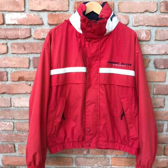 Vintage Perry Ellis Zip Up Jacket with snap Button