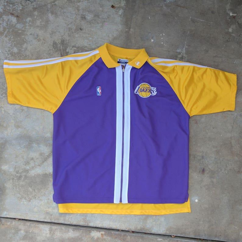 a3a28d87bea Vintage Lakers Champion warm up shirt