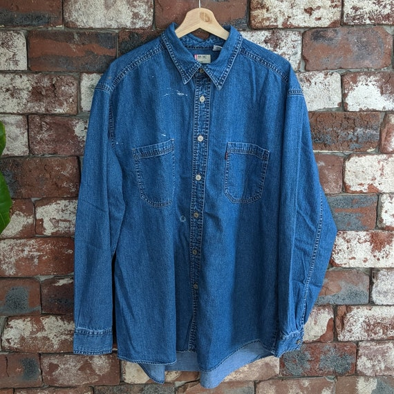 Painted Levi's denim shirt
