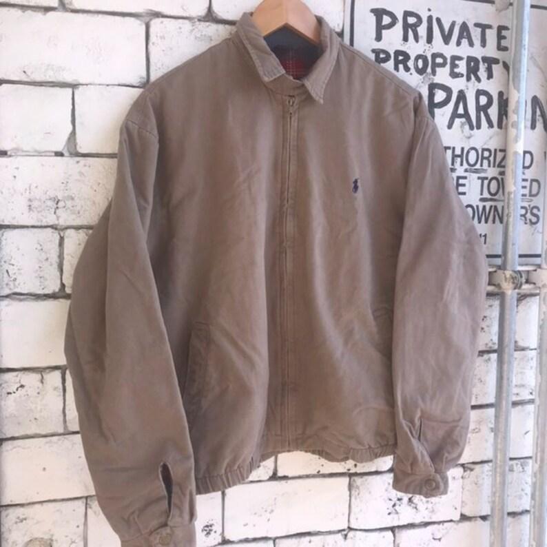 4b8be4b3b Vintage Polo Ralph Lauren Harrington Lined Heavy Duty Jacket Jacket