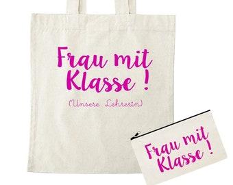 Class Teacher Gift - Bag - Woman with Class