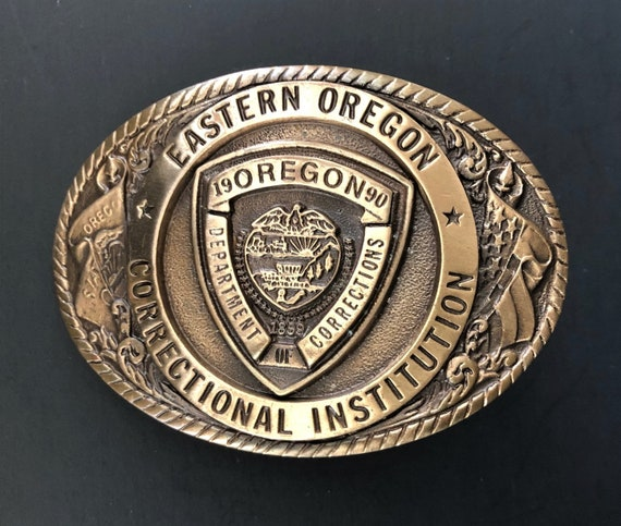 Prison Belt Buckle. 1990 Oregon Department Of Corr