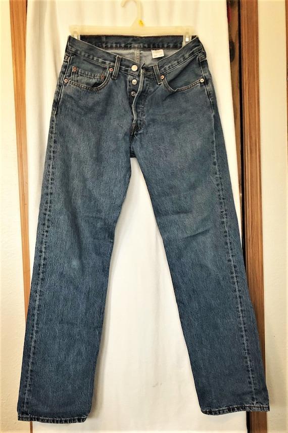 Mens Jeans. Vintage Levis 501 Button Down Jeans.