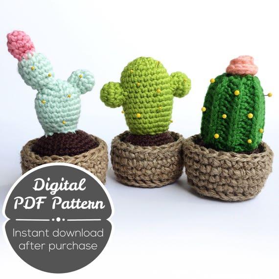 DIY Cactus amigurumi crochet/ganchillo (tutorial) - YouTube ... | 570x570