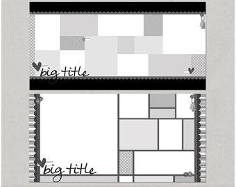 Get 'em Scrapped Set 2 - 24x12 Double Page Digital Scrapbooking Templates