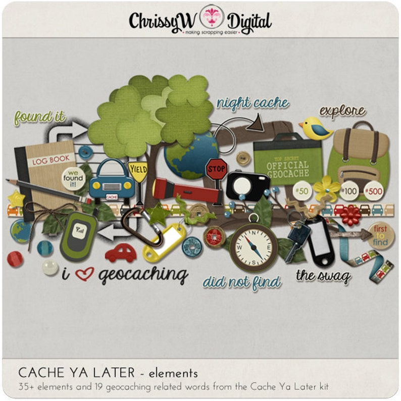 Cache Ya Later  Elements for Digital Scrapbooking image 0