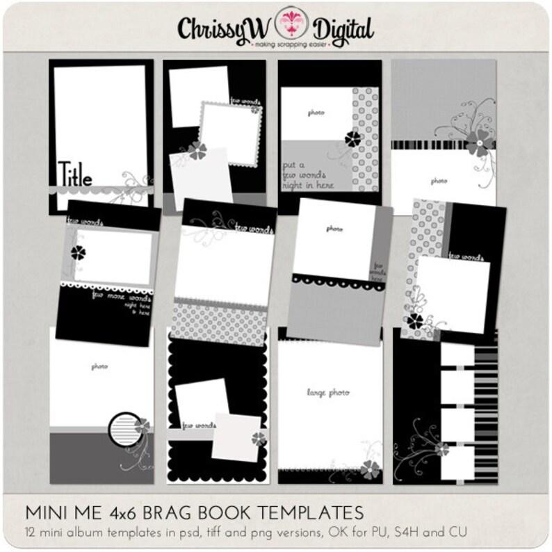 Mini Me 4x6 Brag Book Mini Album Digital Scrapbooking image 0