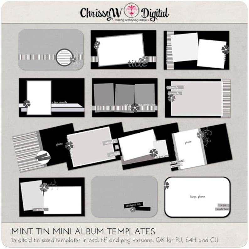 Mint Tin Mini Album Digital Scrapbooking Templates image 0