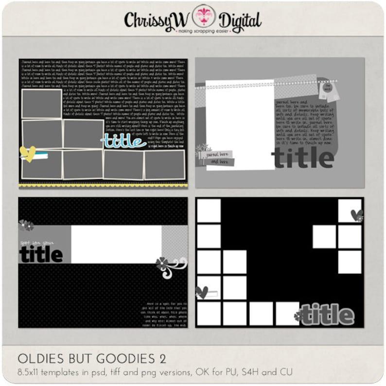 Oldies But Goodies Set 2  8.5x11 Digital Scrapbooking image 0