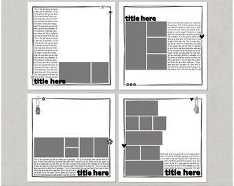 Lots To Say Set 4 - 12x12 Digital Scrapbooking Templates