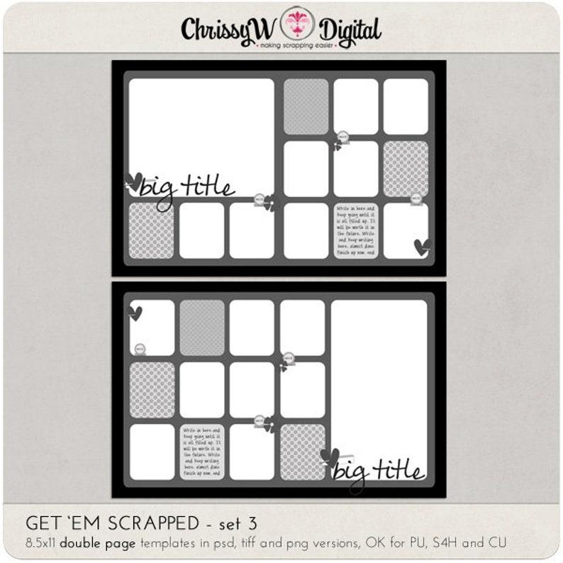 Get 'em Scrapped Set 3  8.5x11 Double Page Digital image 0