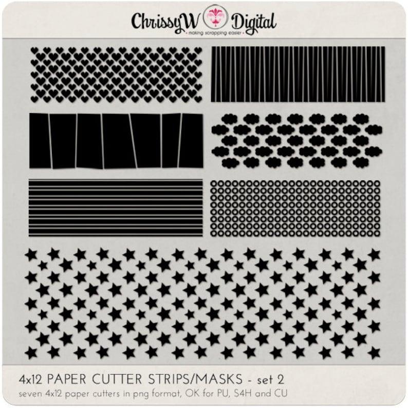4x12 Paper Cutter Mask Strips  Set 2  for Digital image 0