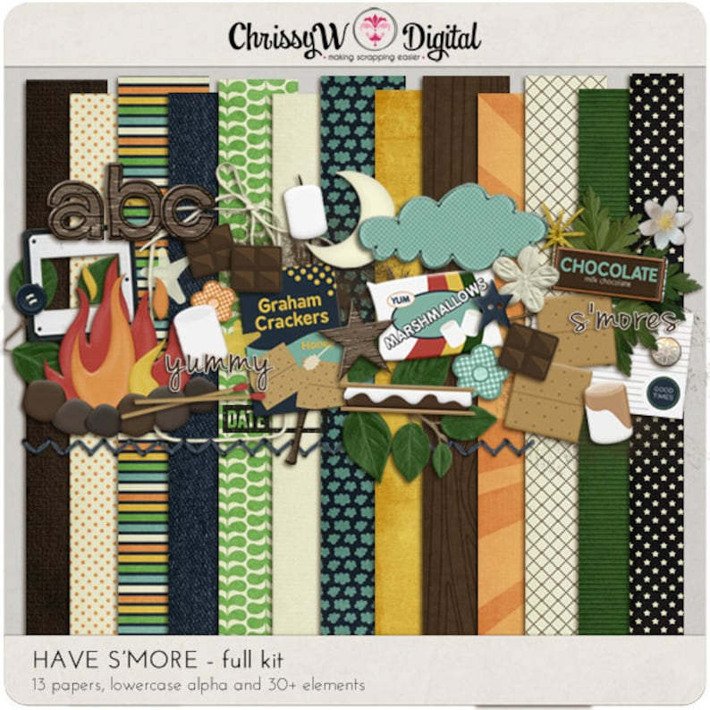 Have Smore  Papers & Elements for Digital Scrapbooking image 0