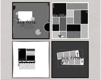 Sample Pack 28 - 12x12 Digital Scrapbooking Templates