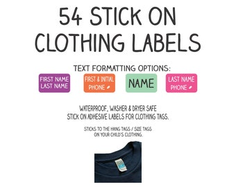 Clothing name labels | Etsy
