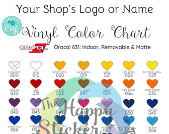 Oracal 651 Vinyl Outdoor Color Chart Editable On Corjl Etsy