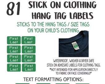 Kids Clothing Tag Labels