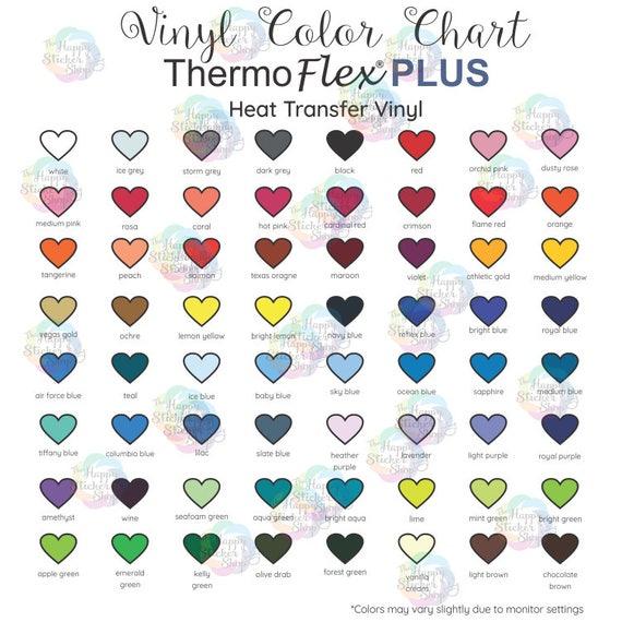 Thermoflex Plus Htv Color Chart Digital Download Heat Etsy