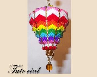Pattern / Tutorial Beaded Ornament - Ziggy Zag Balloon