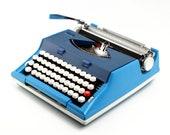 Restored Typewriter, blue...