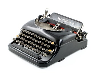 Remington Portable No. 5 Antique Typewriter - Reconditioned, see condition notes