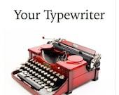 Your Typewriter: Finding,...
