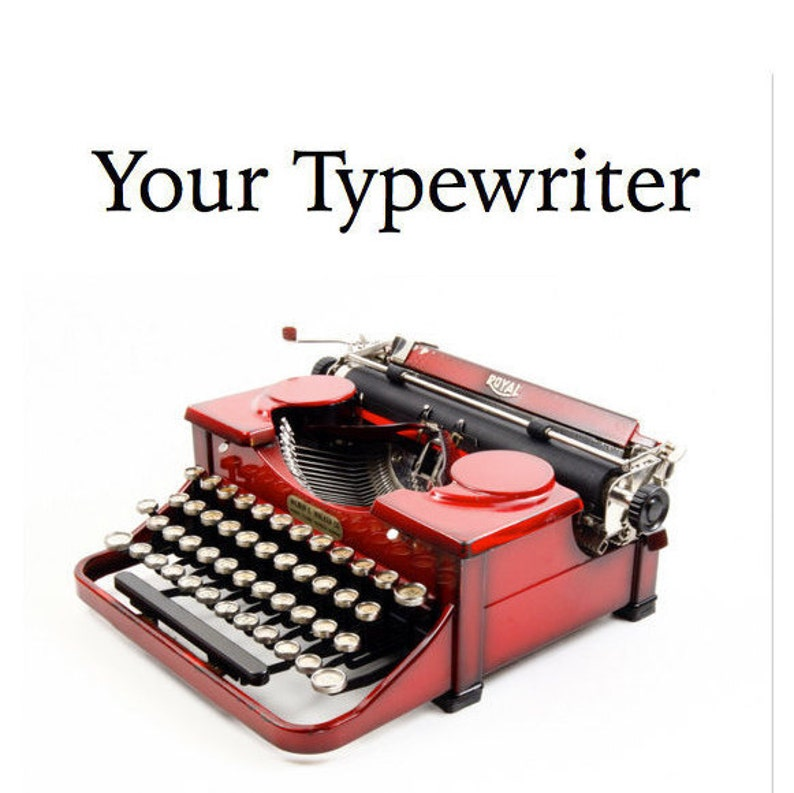 Your Typewriter: Finding Buying and Using a Vintage or image 0