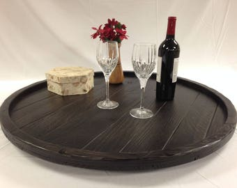 Awesome Round Ottoman Tray Etsy Machost Co Dining Chair Design Ideas Machostcouk