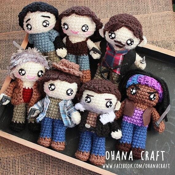 Die Walking Dead inspiriert häkeln Puppe-The Walking Dead | Etsy