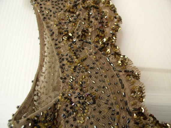 Silk chiffon beaded formal dress - image 4
