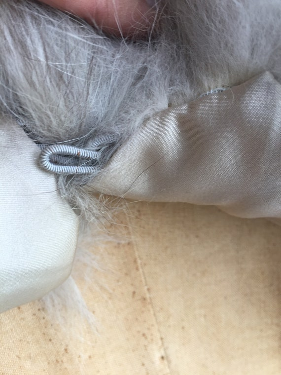 White/ Grey Fox Vintage Capelet - image 4