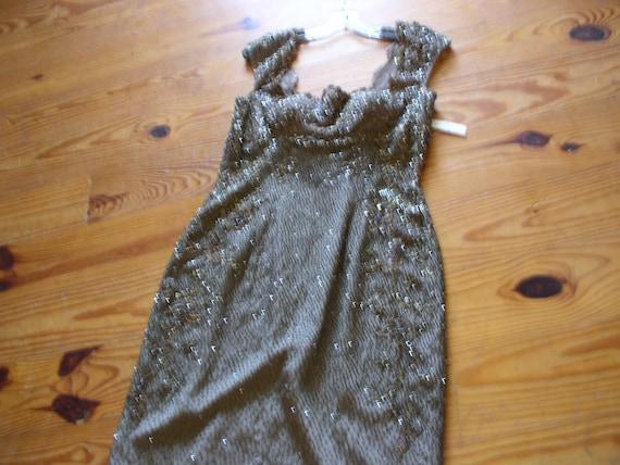 Silk chiffon beaded formal dress - image 7